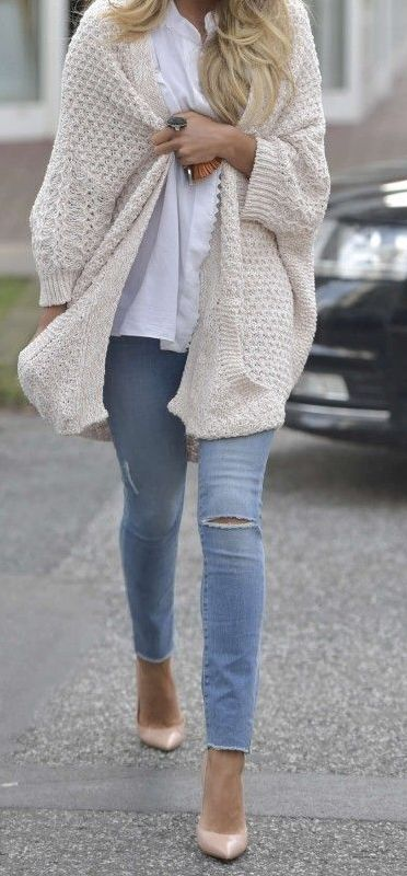 26 Cheap Cardigan You Must Buy This Fall | Cardigan outfits, Beige .