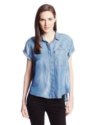 Calvin Klein Jeans Women's Short Sleeve Denim Shirt $16.49 (save .