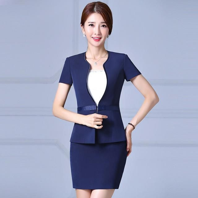 Summer 2017 new formal women skirt suit set temperament short .