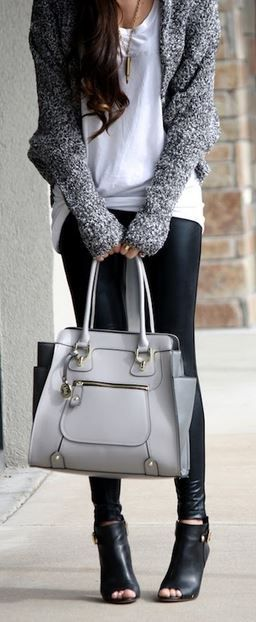 21 gray bag styling options and outfit ideas | Fall fashion trends .