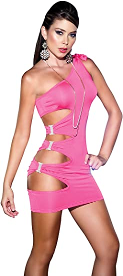 Amazon.com: Mapalé by Espiral Women's Sexy One Shoulder Cut Out .