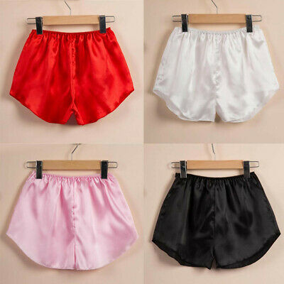 Women Satin Silk Pajama Shorts Loose Home Wear Pants Summer .