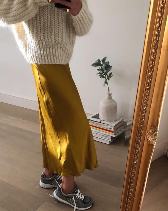 This spring summer outfit ideas look fall trends fall look yellow .