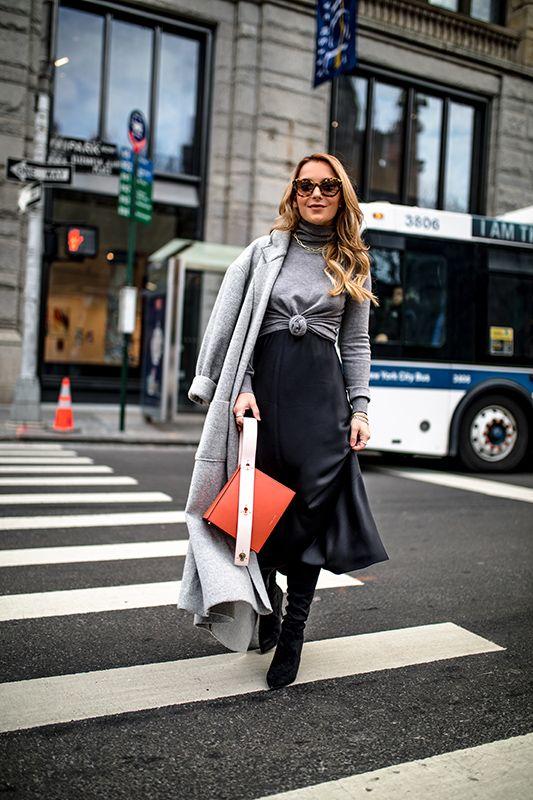 How to Layer a Slip Dress | Black slip dress, Slip dress outfit .