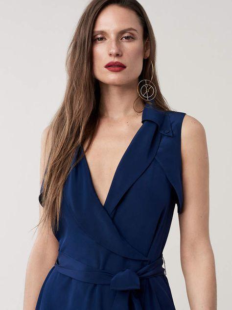 Diane Von Furstenberg Augusta Silk Crepe de Chine Wrap Dress #ad .