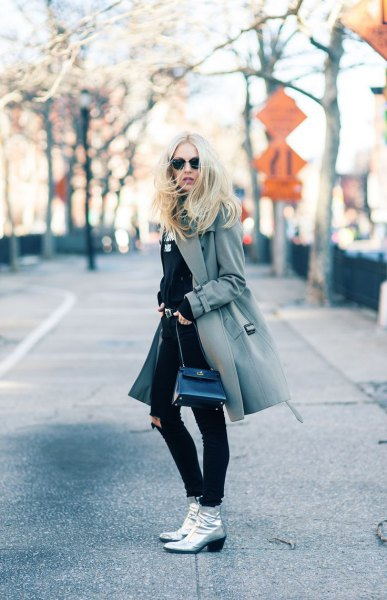 How to Style Silver Ankle Boots: 15 Amazing Outfit Ideas - FMag.c