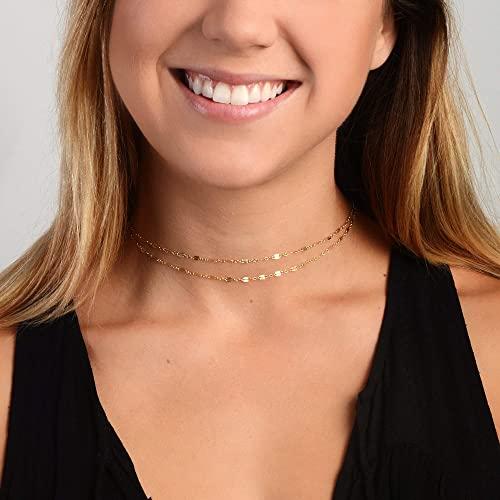 Amazon.com: Choker Necklace, Choker, Gold choker, Silver choker .