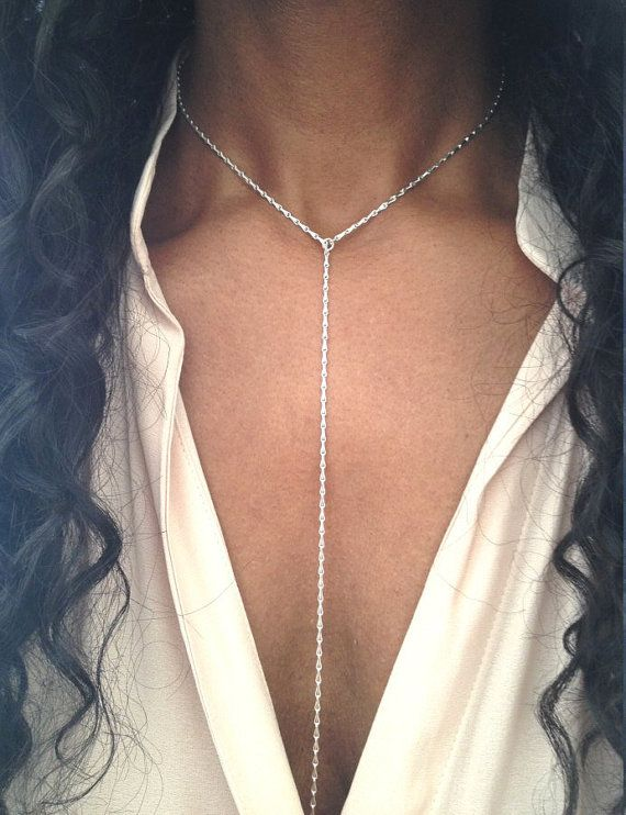 Lariat Necklace Modern Jewelry Gift For Her Mothers Day Gift For .