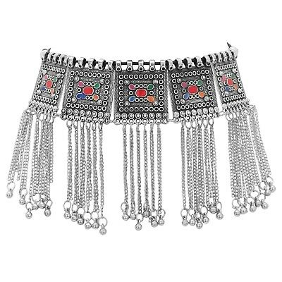 Indian Silver Choker Necklace Oxidized Wedding Bollywood .