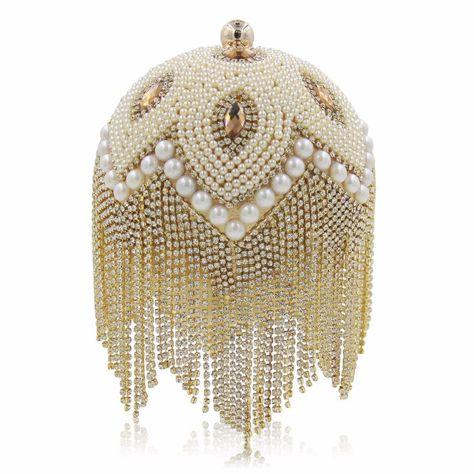 Fashion Ball Clutch Party Bag Tassels For Evening Wear Eevening .