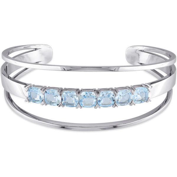 Catherine Malandrino Sterling Silver Open Wrap Cuff Bracelet .
