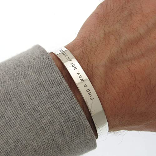 Amazon.com: Fathers Day Gift Sterling Silver Bracelet for Men Mens .
