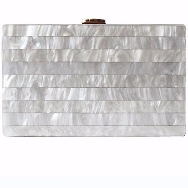 Silver Marble Acrylic Box Clutch | Acrylic box, Holiday outfits .