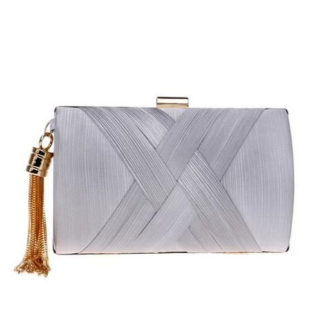 Women's Fashion Wedding Round/Rectangular Clutch Bag with Metal .