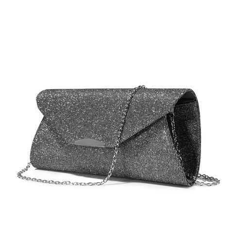 Women's Fashion Clutch Bag - Black,Blue,Gray,Red,Silver Evening .
