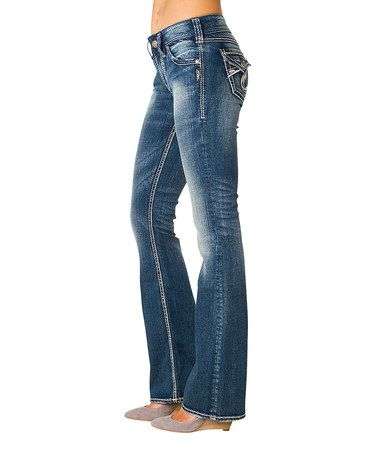 This Indigo Curvy Suki Surplus Bootcut Jeans - Women by Silver .