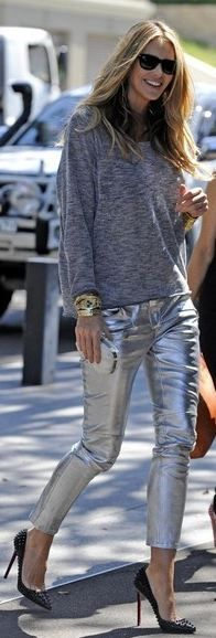 28 Best Silver pants images | Fashion, Style, My sty
