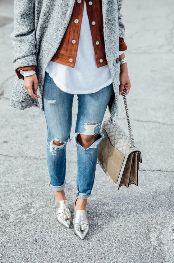 Outfit Ideas: Sparkling And Metallic Shoes 2020 | FashionTasty.c