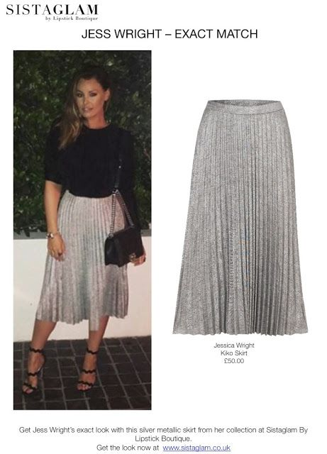 Metallic silver skirt from Sistaglam by Lipstick Boutique // Jess .