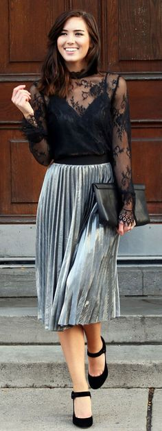 26 Best silver skirt images | Silver skirt, Street style, Fashi