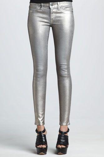 Silver Jeans - Best Metallic Pant Styles For Women in 2020 .