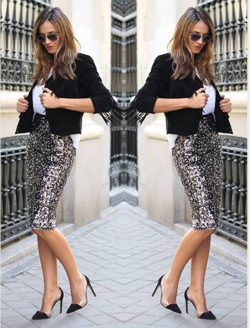 Sequin outfit ideas for holiday | Sequin outfit, Outfits, Sequin .