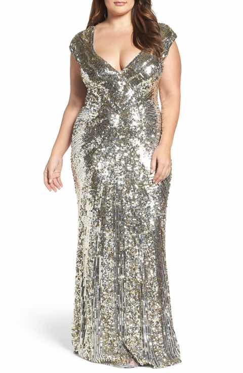 Most Gorgeous Plus Size Silver Sequin Dresses for Wom
