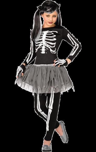 Kids Gothic Skeleton Halloween Costume | Girls skeleton costume .