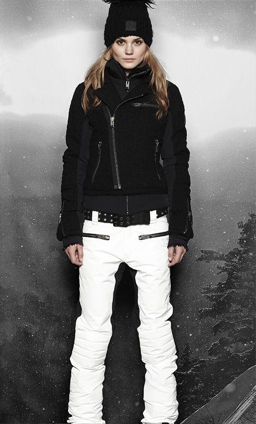 sos skiwear | Skiing outfit, Ski women, White ski pan