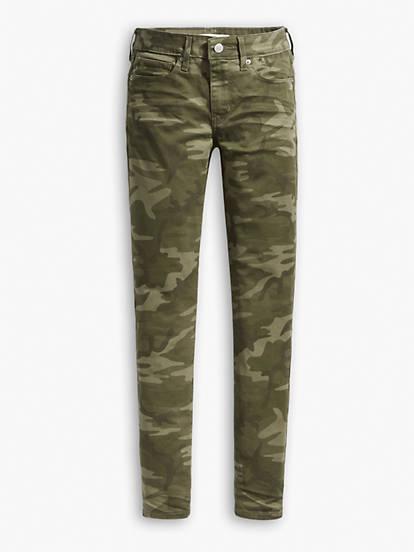 Camo Print 711 Skinny Ankle Women's Jeans - Green | Levi's®