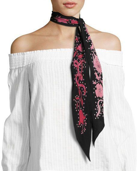 beautiful skinny scarf! Great style idea, colourful and stylish .
