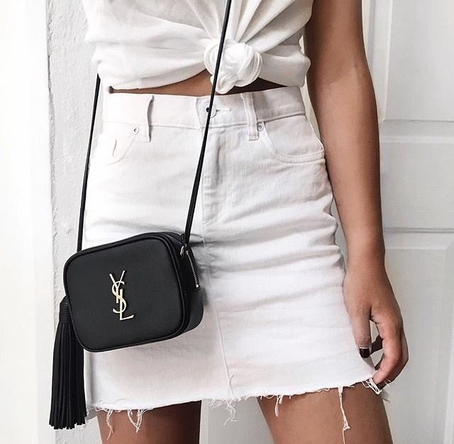 A white denim skirt is becoming a new essential | Fashion, Casual .