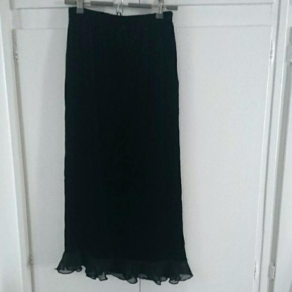 Black Long Maxi Skirt M Vintage Velvet Velour Outfit Ideas .