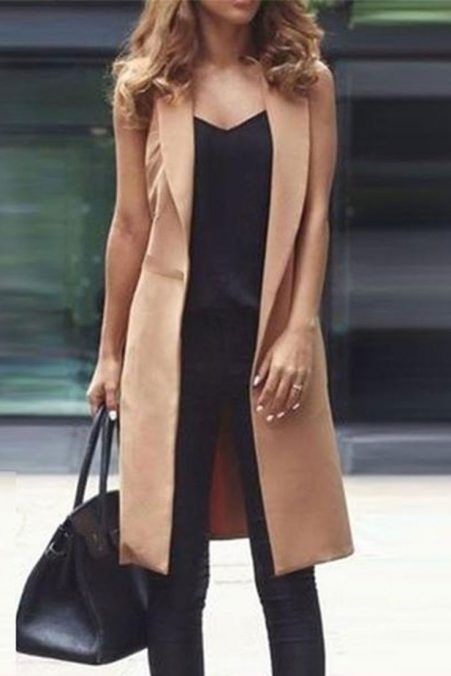 Sleeveless Blazer Outfit Ideas (52) | Sleeveless blazer outfit .
