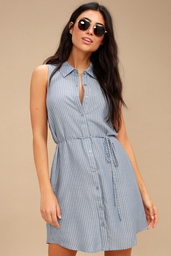 Sleeveless Shirt Dress – Fashion dress