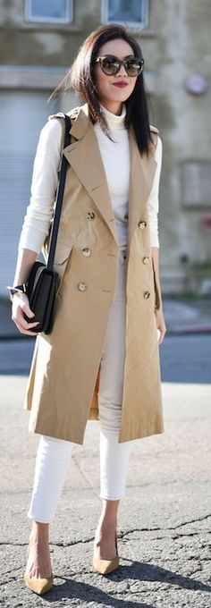 250 Best Sleeveless trench coat images | Sleeveless trench coat .