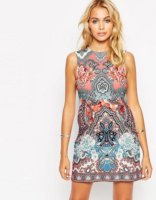 ASOS Placement Folk Sleeveless Tunic Dress | AS