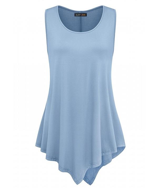 Womens Sleeveless Tunic Tops - A-acid Blue - CQ17YSHEC