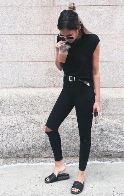 20 Ways To Wear Women's Slide Sandals This Summer | Fashion, All .