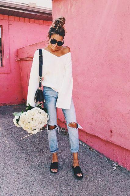 20 Ways To Wear Women's Slide Sandals This Summer | Fashion, Style .