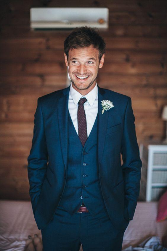 Wedding Ideas by Colour: Blue Wedding Suits | CHWV … | Blue suit .