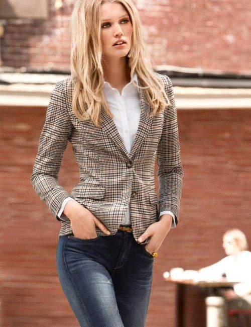 Women's Autumn Collection Plaid Slim Fit Blazer | Fall fashion for .