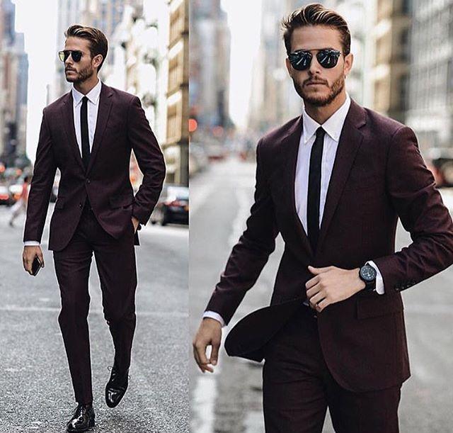 Dark burgundy suit | Jcrew suit, Mens fashion sui