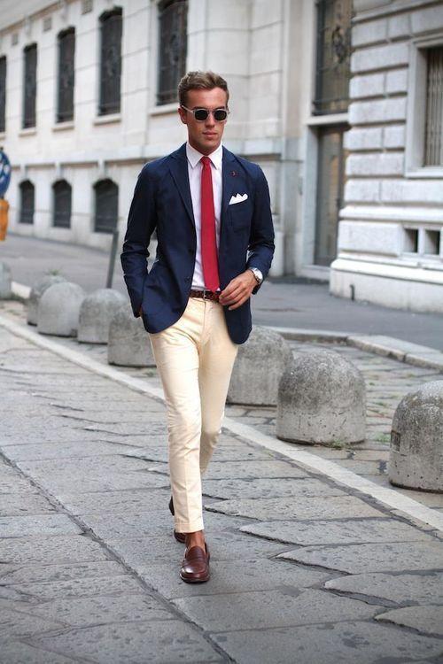 27 Best Summer Business Attire Ideas for Men 2019 | Blue blazer .