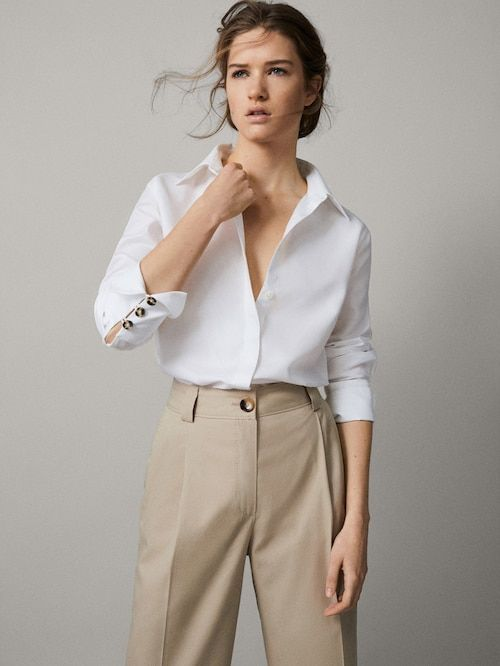 Darted cropped fit chinos | Smart casual women, Summer work .