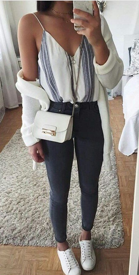 fall #outfits women's white leather sling bag | Chic summer .