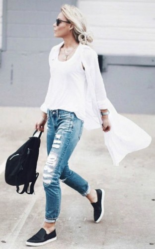 Casual outfits ideas with slip on shoes | | Just Trendy Gir
