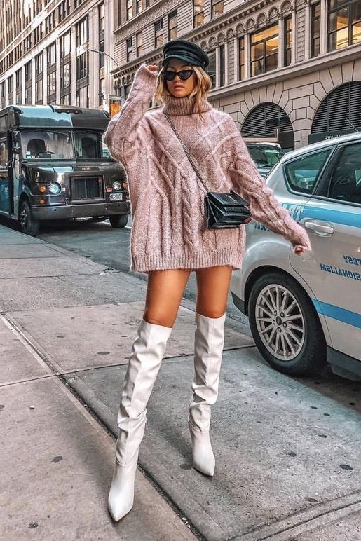 34 Sweater Dress Outfit Ideas That Are Still Trendy 2020 .