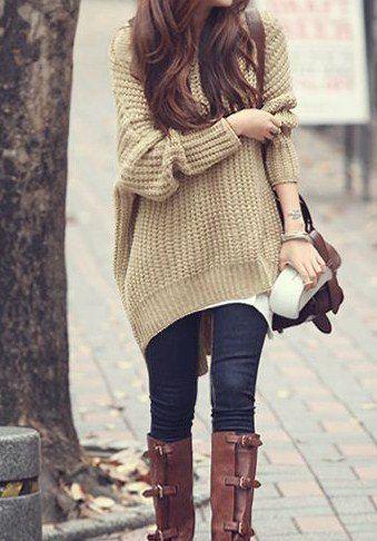 Oversized Knit. | Clothing | Fashion, Autumn fashion, Fall outfi