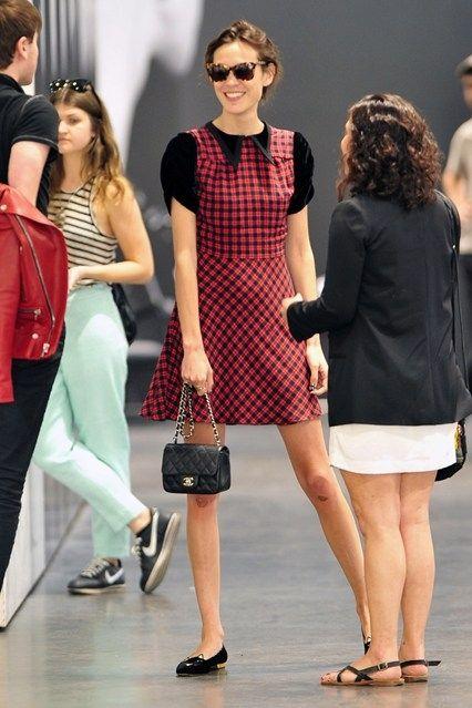Alexa Chung and Chanel Mini Flap Bag | Nice dresses, Fashion .